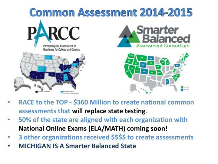 Common Assessment 2014-2015
