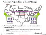 promontory project coast to coast ip storage