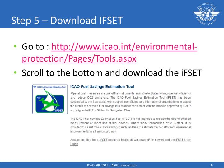 Step 5 – Download IFSET