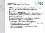 abet accreditation