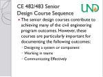 ce 482 483 senior design course sequence