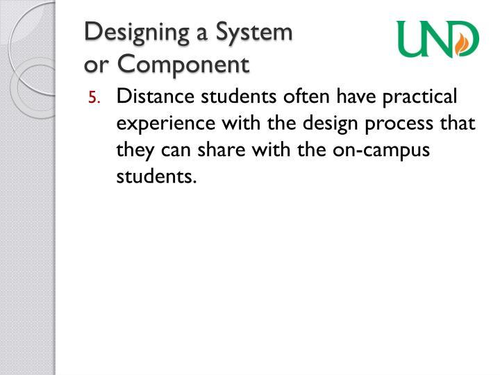 Designing a System