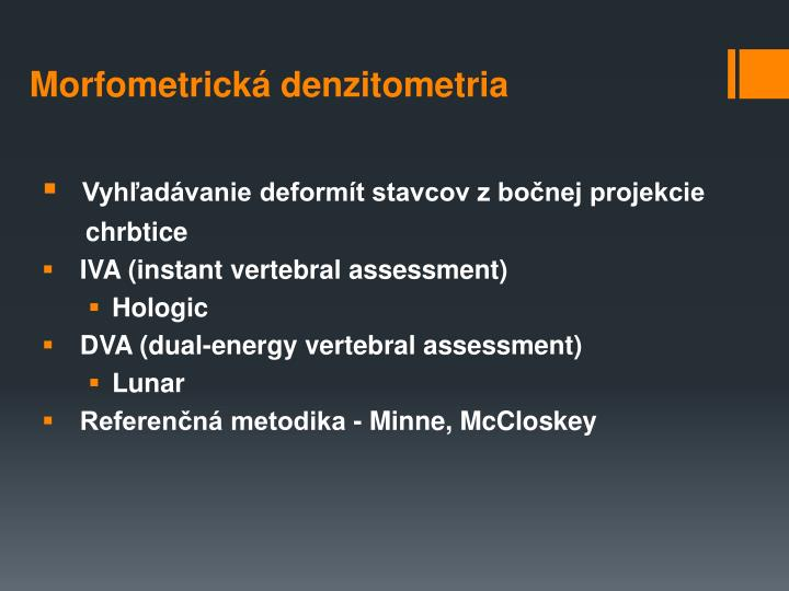 Morfometrická denzitometria