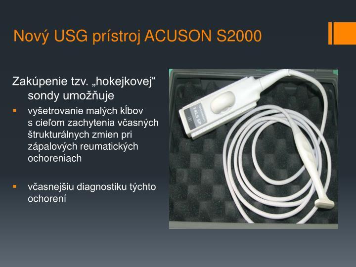 Nový USG prístroj ACUSON S2000