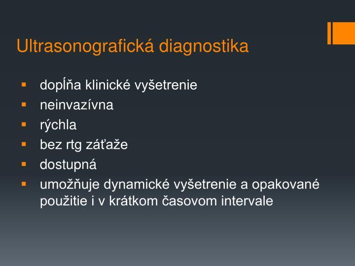 Ultrasonografická diagnostika