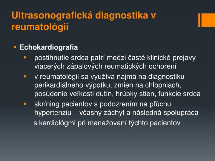 Ultrasonografická diagnostika v reumatológii