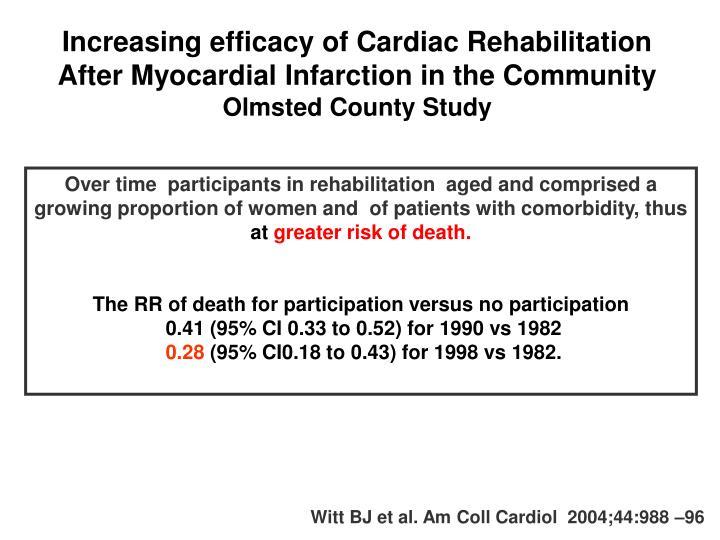 Increasing efficacy of Cardiac Rehabilitation After Myocardial Infarction in the Community
