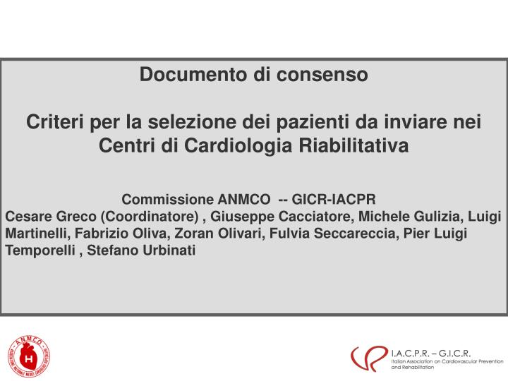 Documento di consenso