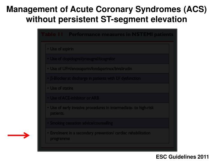Management of Acute Coronary Syndromes (ACS)