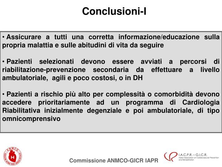 Conclusioni-I