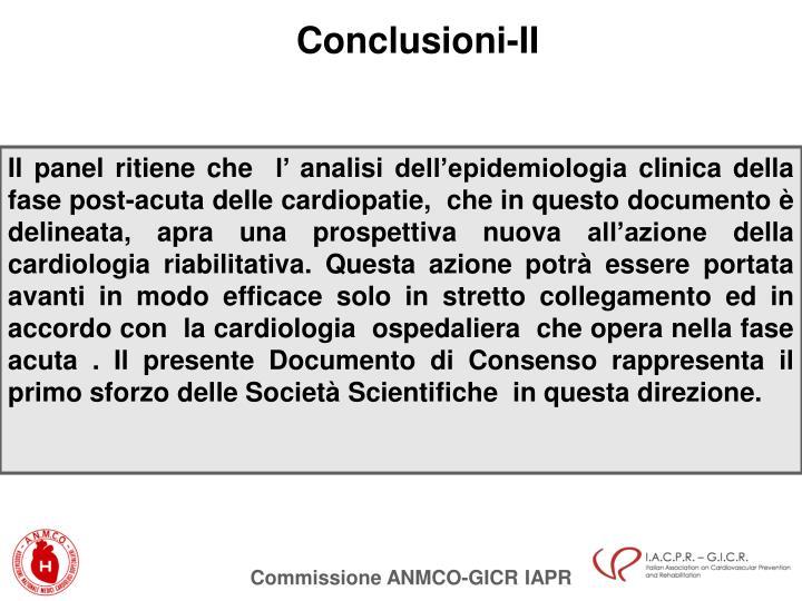 Conclusioni-II
