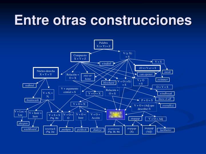 Entre otras construcciones