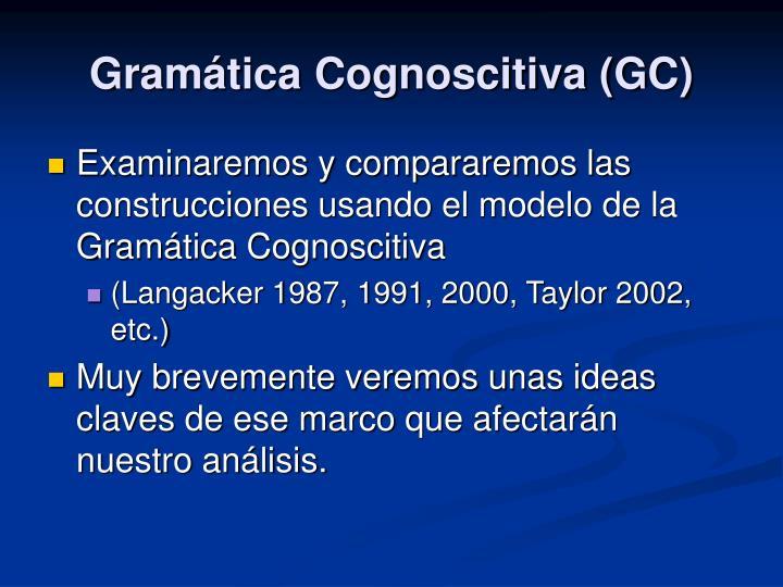 Gramática Cognoscitiva (GC)