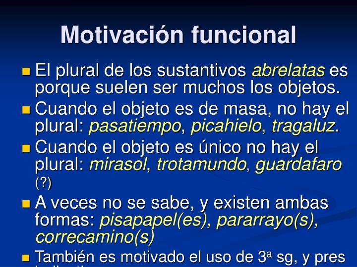 Motivación funcional
