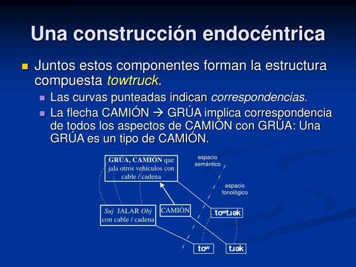 Una construcción endocéntrica
