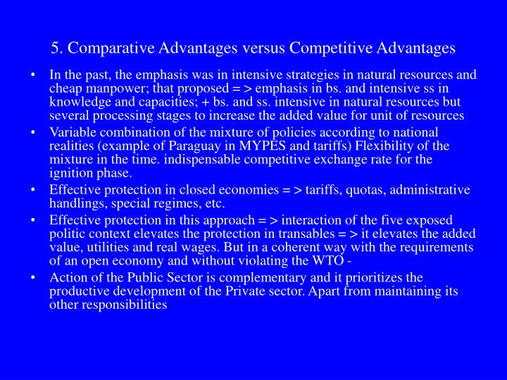 5. Comparative Advantages versus Competitive Advantages