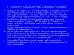 5 comparative advantages versus competitive advantages