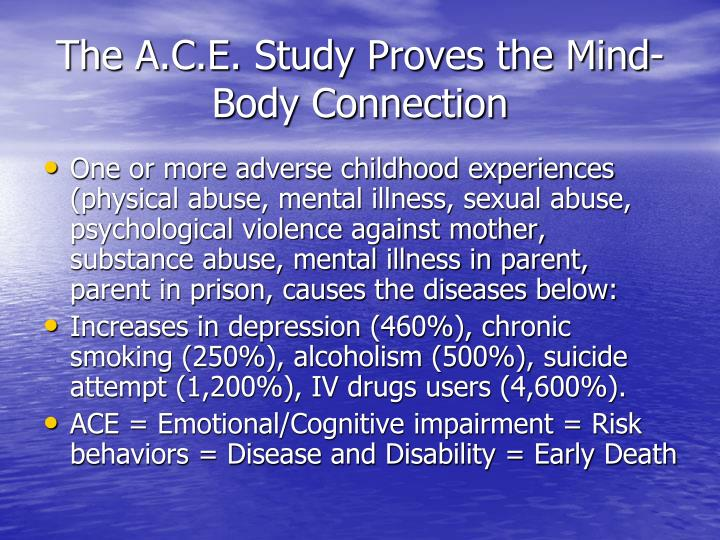 The A.C.E. Study Proves the Mind-Body Connection