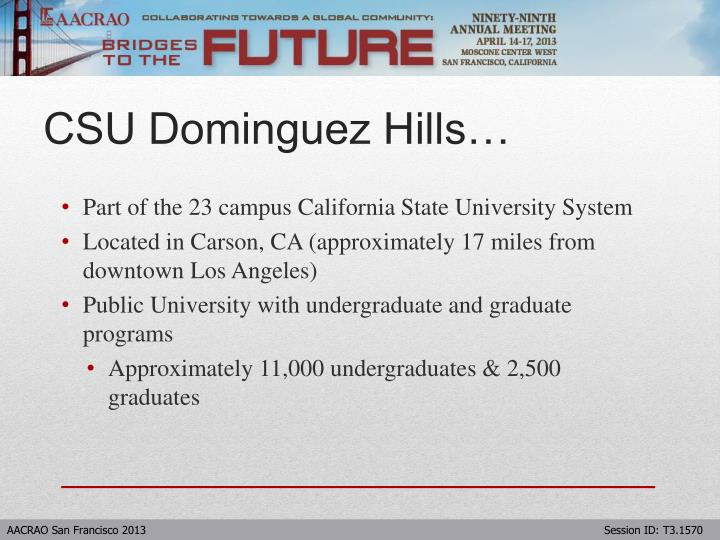 Part of the 23 campus California State University System