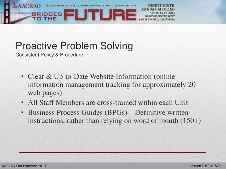 Clear & Up-to-Date Website Information (online information management tracking for approximately 20 web pages