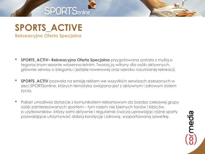 SPORTS_ACTIV– Rekreacyjna Oferta Specjalna
