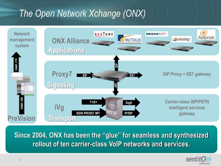 The Open Network Xchange (ONX)
