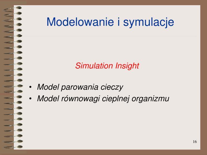 Modelowanie i symulacje