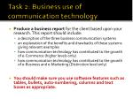 task 2 business use of communication technology2
