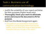 task 2 business use of communication technology4