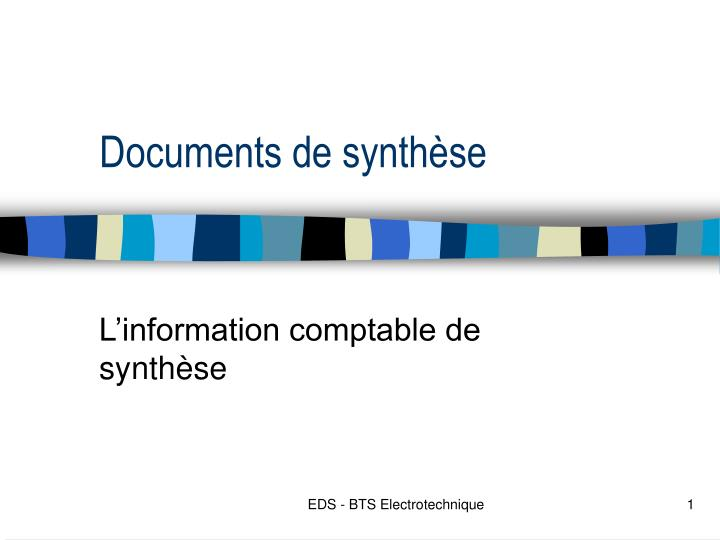 documents de synth se