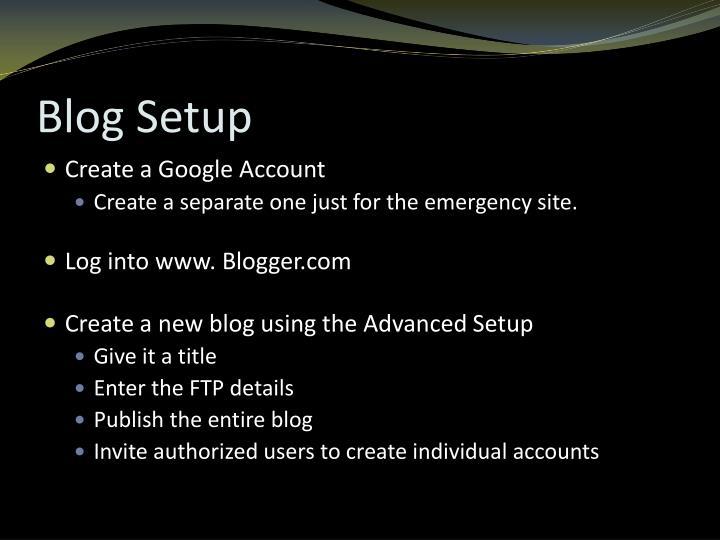 Blog Setup