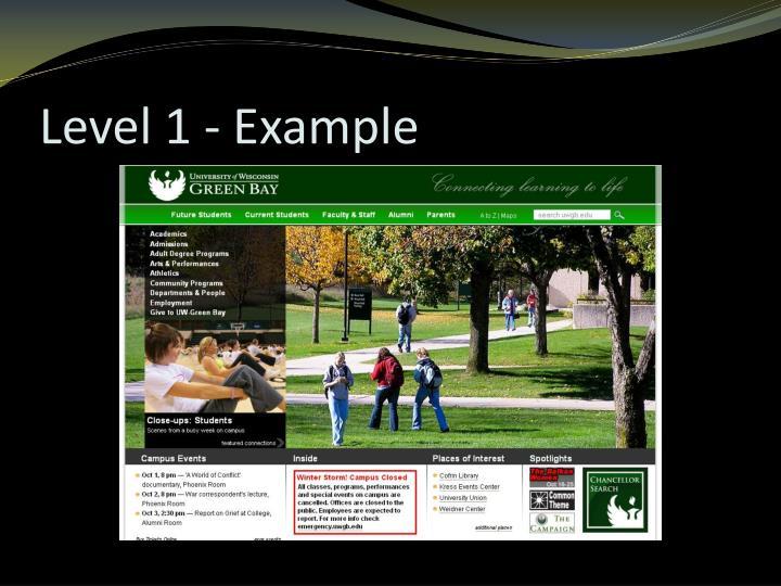 Level 1 - Example