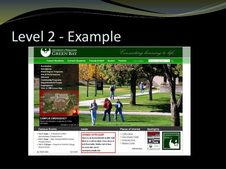 Level 2 - Example