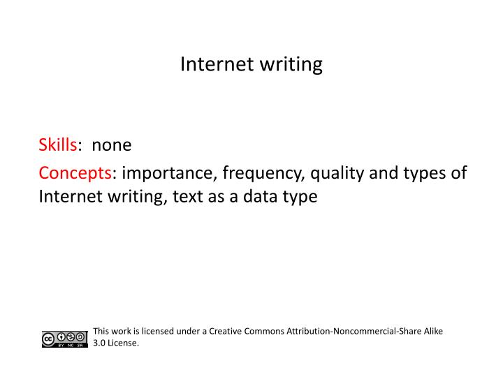 Internet writing
