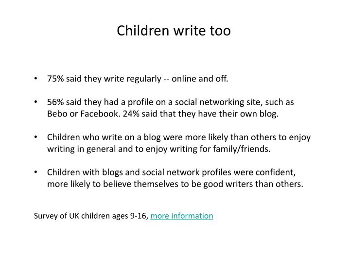 Children write