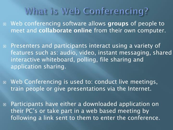 What is web conferencing
