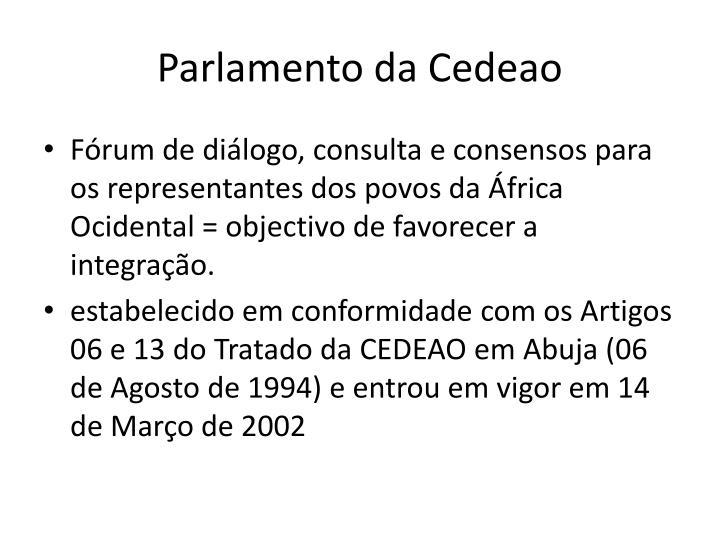 Parlamento da Cedeao