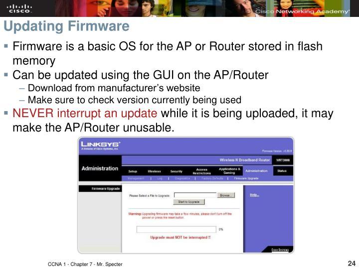 Updating Firmware