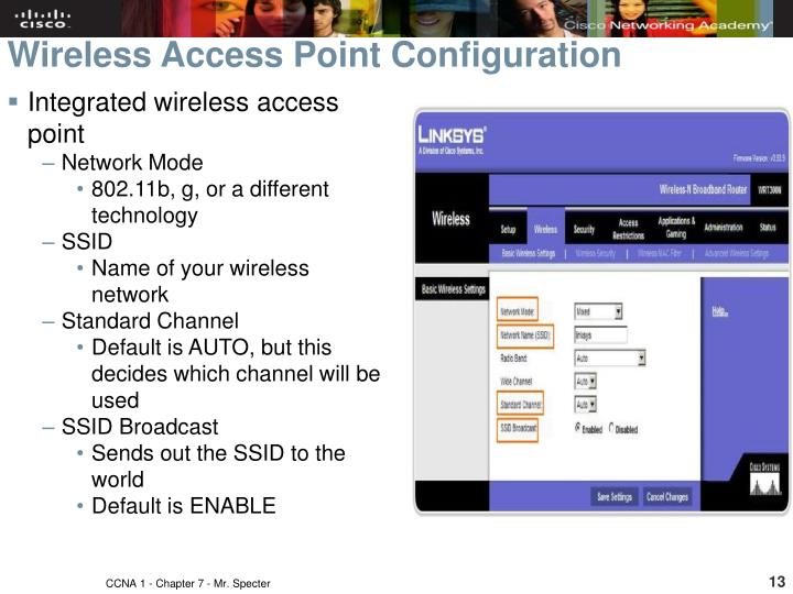 Wireless Access Point Configuration