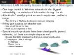wireless lan security issues mitigation strategies