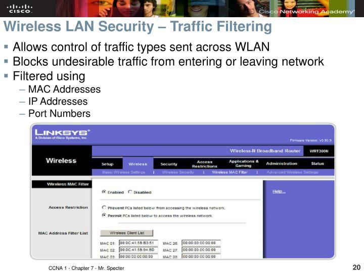 Wireless LAN Security – Traffic Filtering