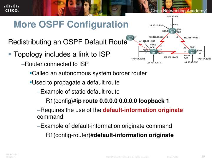More OSPF Configuration