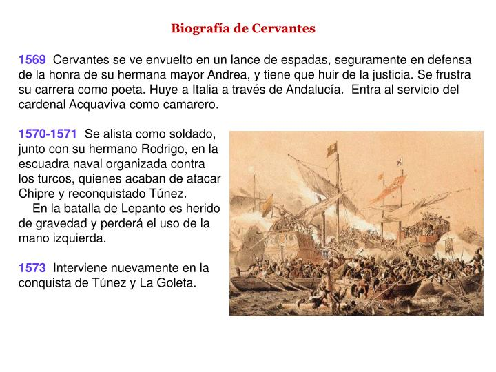 Biografía de Cervantes