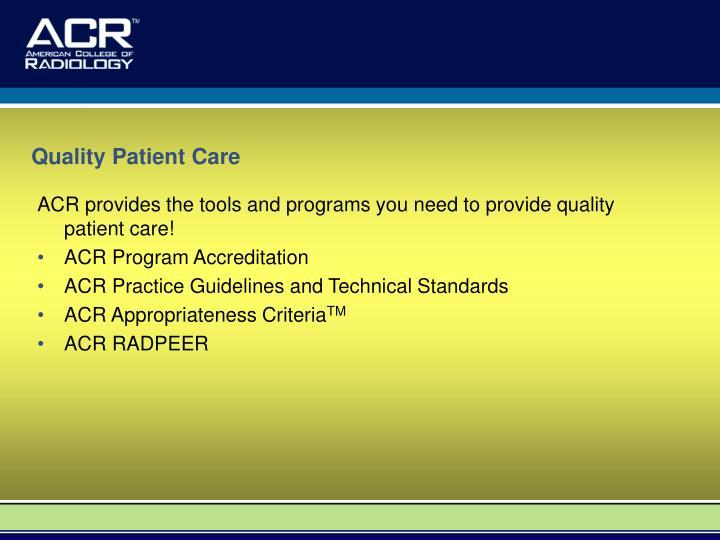 Quality Patient Care