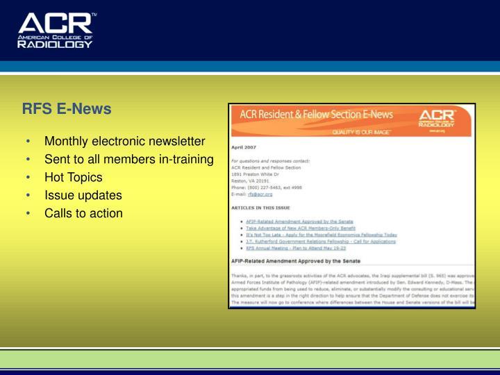 RFS E-News