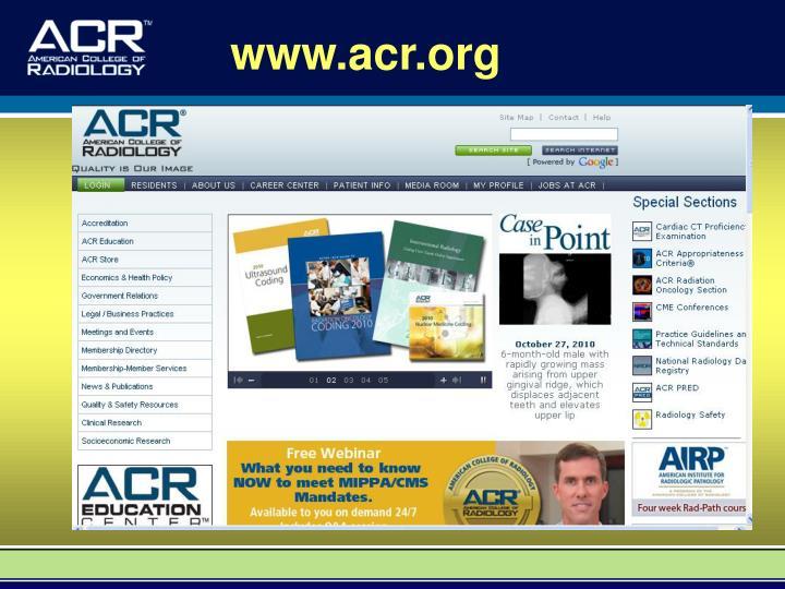 www.acr.org