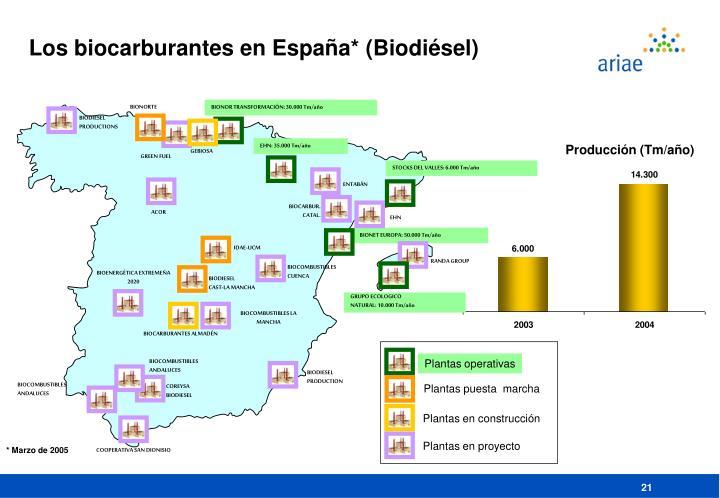 Los biocarburantes en España* (Biodi