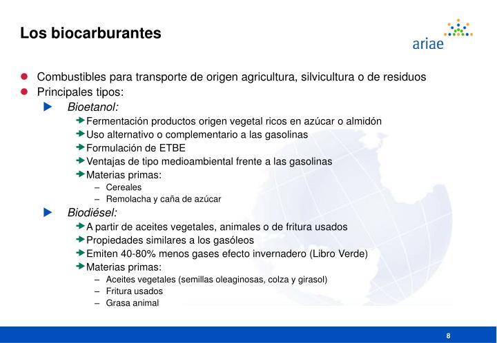 Los biocarburantes