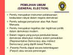 pemilihan umum general election