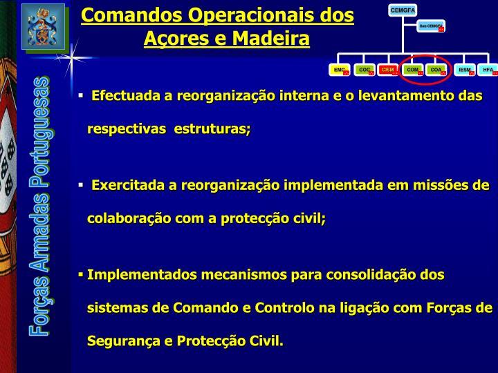 Comandos Operacionais dos Açores e Madeira
